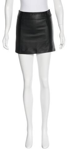 Alexander WangT by Alexander Wang Leather Mini Skirt