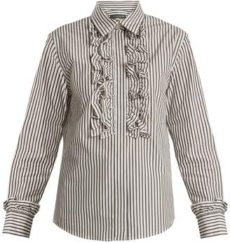 Alexa Chung Woman Printed Cotton-poplin Shirt White Size 10 AlexaChung Sale Cheap AiDOEWR
