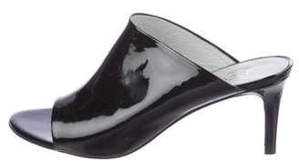 Pedro Garcia Patent Leather Slide Sandals
