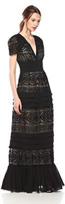 ML Monique Lhuillier Women's Embroidered Maxi Dress