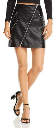 Blank NYC BLANKNYC Zip-Front Faux Leather Skirt
