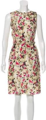 Marni Silk Knee-Length Dress Beige Silk Knee-Length Dress