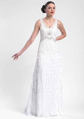 Sue Wong - Beaded Art Deco Chiffon Gown N5244 $890 thestylecure.com