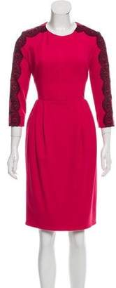 Jason Wu Lace-Accented Cocktail Dress