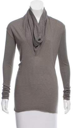 Rick Owens Long Sleeve Cowl Neck Top
