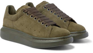 Alexander McQueen Exaggerated-sole Suede Sneakers - Green