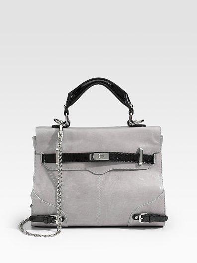 Rebecca Minkoff Jane Spectator Flap Leather Top Handle Bag