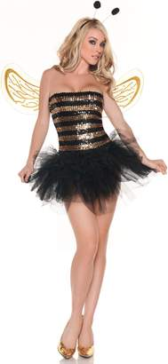 Mystery House Women's Sequin Bee Costume