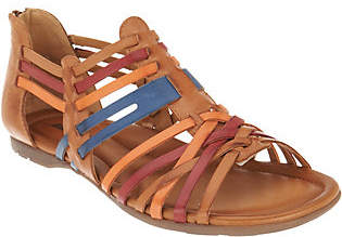 Earth Leather Multi-Strap Sandals - Bonfire
