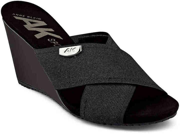 Anne KleinWomen's Toria Wedge Sandal -Black/White