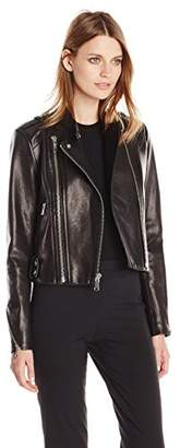 Andrew Marc Women's Leather Moto Jacket $338.84 thestylecure.com