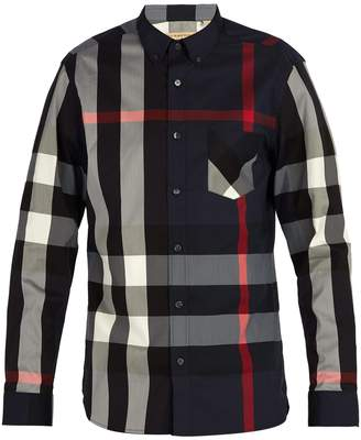 Burberry House-check button-down shirt