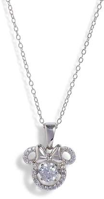 Disney Minnie Dancing Crystal Pendant Necklace