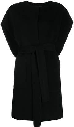 Iris von Arnim belted sleeveless cardi-coat
