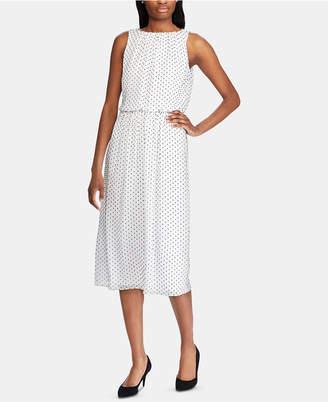 American Living Polka Dot-Print Day Dress