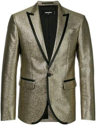 DSQUARED2 metallic stripe woven blazer