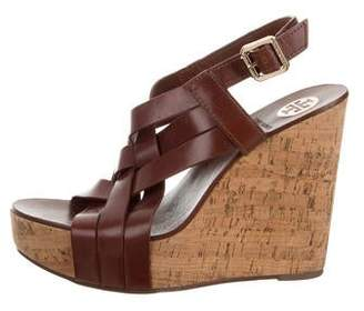 Tory Burch Leather Platform Wedges
