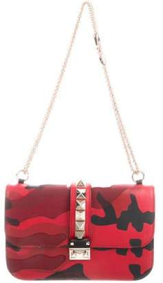 Valentino Camouflage Glam Rock Bag Red Camouflage Glam Rock Bag
