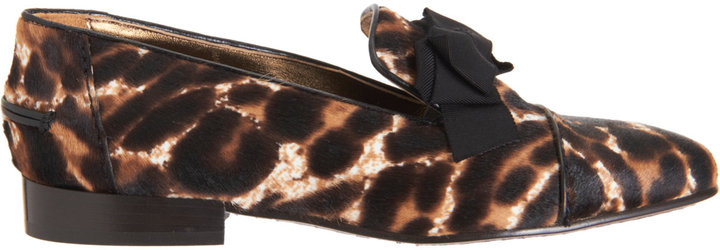 Lanvin Calf Hair Bow Loafer