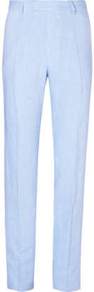 Favourbrook Sky-Blue Evering Windsor Linen Suit Trousers