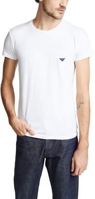 Emporio Armani Shiny Logo Band Tee
