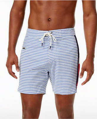 Tommy Hilfiger Men's Striped Foothill Board Shorts $69.50 thestylecure.com
