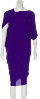 Roland Mouret Short-Sleeve Midi Dress