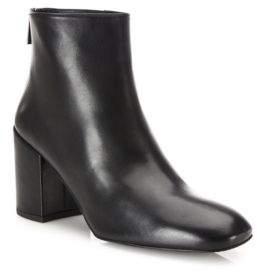 Bacari Leather Block Heel Booties $535 thestylecure.com