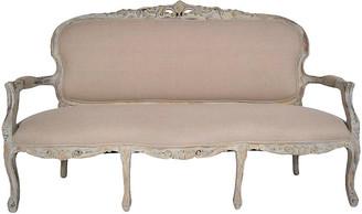 One Kings Lane Vintage Antique Louis XV Gilt & Painted Sofa - Castle Antiques & Design