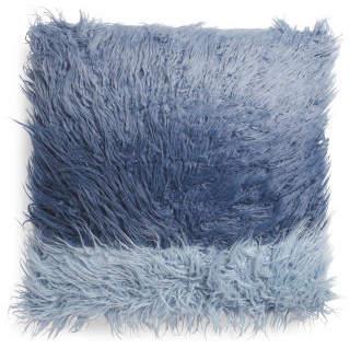26x26 Dip Dyed Faux Fur Pillow