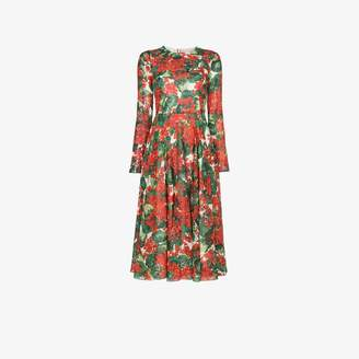 Dolce & Gabbana floral print silk dress