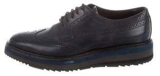 Prada Leather Brogue Oxfords