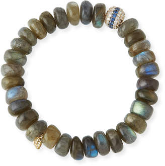 Sydney Evan 10mm Labradorite Beaded Bracelet with Blue Sapphire & Diamonds