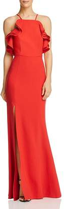 C/Meo Collective Outline Ruffle-Trimmed Crepe Gown