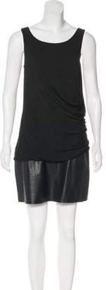 Bailey 44 Sleeveless Vegan Leather-Paneled Dress