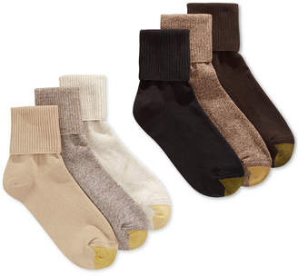 Gold Toe Women's Turn Cuff 6-Pack Socks, also available in Extended Sizes