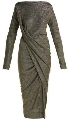 Vivienne Westwood Vian Draped Midi Dress - Womens - Navy