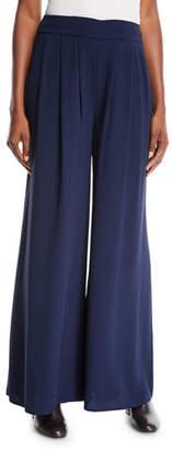 Eileen Fisher Silk Georgette Wide-Leg Pants, Plus Size