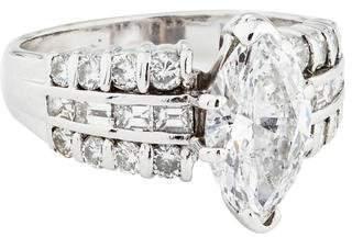18K Diamond Engagement Ring