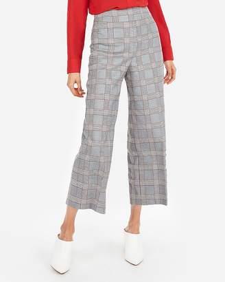 Express High Waisted Plaid Culotte Pant