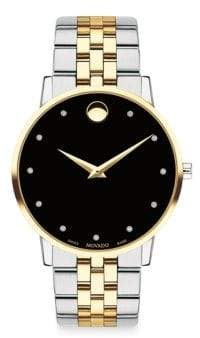 Movado Museum Classic Stainless Steel Bracelet Watch - Black