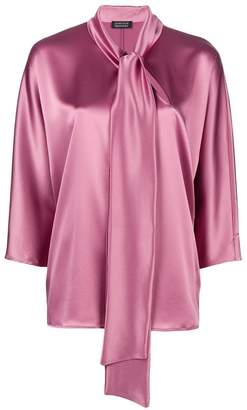 Gianluca Capannolo bow tie sheen blouse