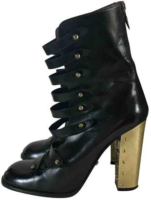 Sonia Rykiel Leather buckled boots