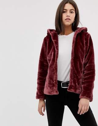8a3de145bf6 Vila Faux Fur Jacket - ShopStyle UK