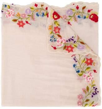 Faliero Sarti floral embroidered scarf