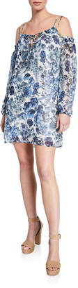 Bailey 44 Daydream Cold-Shoulder Floral Mini Dress