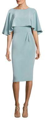 Theia Cape Popover Silk Blend Dress $695 thestylecure.com