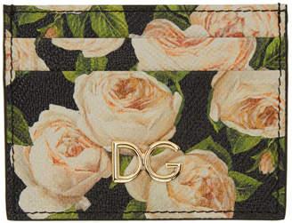 Dolce & Gabbana Multicolor Flowers Card Holder