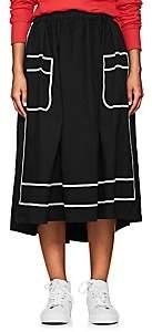 Comme des Garcons Women's Piqué Midi-Skirt-Black