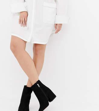Asos Design DESIGN Wide Fit Eve ankle boots